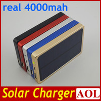 Wholesale DHL Fedex free real mAh Solar Power Bank Portable Solar Power Bank Panel Charger Charging Battery for iPhone5 s iPad Samsung and more