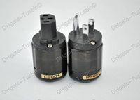 US  power plug P004 & C004 US Oyaide P-004 Rhodium plated US AC Power Plug & C004 IEC connector Free shipping