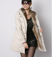 women winter warm long jacket - Hot Faux Fur Lining Women s Fur Hoodies Ladies coats winter warm long coat jacket cotton clothes thermal parkas plus