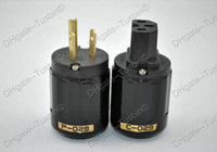 US  power plug P029 & C029 US Oyaide P029 pure copper US AC Power Plug & C029 IEC connector Black Free shipping