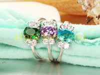 Wholesale Mixed Sterling Silver Eternal Witness Of Love Jewelry Engagement Wedding Rings Crystal Rings