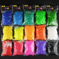 8-11 Years Multicolor Silicone High Quality NEW 15 Colors Twistz Bandz Latex Free Rubber Bands Rainbow Loom Bands DIY Wrist Bracelet (600 bands + 24 clips)100PCS+
