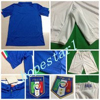 Soccer football set - Italy Soccer Jerseys Football Jersey Uniforms Kits Clothing Discount World Cup T Shirts Cheap Thailand Custom Tops Sets Authentic Blue
