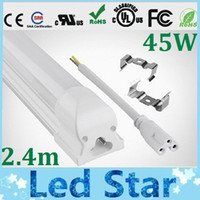 led t8 tube - NEW Integrated m ft W Led T8 Tube Lights SMD2835 Leds High Bright lm Warm Natuarl Cool White Frosted Transparent Cover V