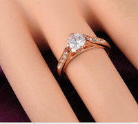 Wholesale 18K Real Gold Plated Austrian Crystal Champagne Gemstone Erstwhile Memory Design Lady Ring