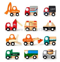 5-7 Years Car Wooden Mini Wooden Car Forklift Tanker Fire Truck Police Car Ambulance Bus Baby Kids Classic Toy Vehicle 12 Style