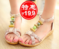 Women Spool Heel PU The new fashion sandals Roman family name shoes with casual style flat sandals flat nude color summer straw sandals
