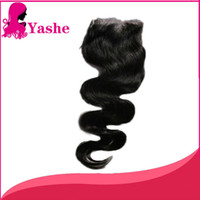Wholesale lace top closure piece for sale online Malaysian human hair top closure new fashion wavy hairstyle easy to care BW132