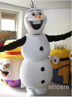Mascot Costumes Animal Occupational Adult Frozen Olaf Snowman Mascot Fancy Dress Costume EMS Free shipping