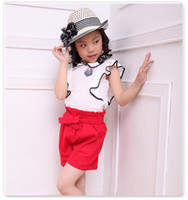 Summer New 2014 Hot Sale Children Girls Sets Falbala Sleevel...