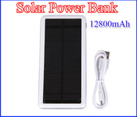 New Capacity Solar Powered Charger 12800mAh Dual USB Power B...