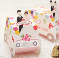 Cheap Elegant Wedding Candy Box Colorful Car Design Bridegroom And Bridal Empire Fashion Wedding Supplies Favor Holders