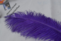 wholesale 100pcs lot 12-14inch purple Ostrich Feather for Wedding party event centerpieces table centerpiece wedding decor