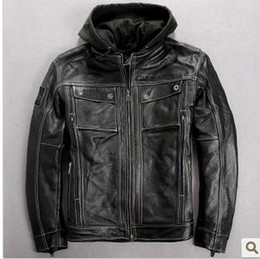 Wholesale 97135 men s generator in genuine Leather Jacket VM motorcycle jacket