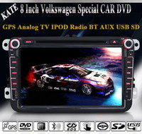 Wholesale Volkswagen Seat Scirocco Jetta Candy Turan T5 Doble Din Car DVD Radio GPS Navi RDS BT Analog TV IPOD AUX P