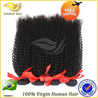 Wholesale Kinky A Brazilian Virgin Curly Hair Unprocessed Kinky Curl Human hair Weave Brazilian Hair Extension Cheap Price Natural Color