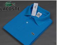 Wholesale Fashion Shirts Men s Crocodile polo shirt Tees amp Top Good quality Cotton Polo shirts Short sleeved polo shirt M XXL yu