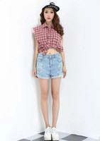 Jeans Women Skinny,Slim 2014 new style denim shorts in summer women retro ripped jeans thin denim jeans