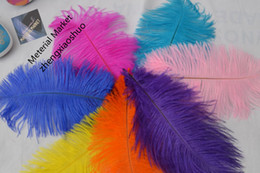 wholesale 100pcs lot 10-12inch White black red light pink hot pink royal blue turquoise purple Ostrich Feather for Wedding centerpiece