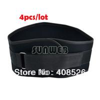 Cheap 4pcs lot nylon Weight Lifting Belt Gym Back Support Power Training Work Exercise Fitness Strap Lumber 90cm TK0840