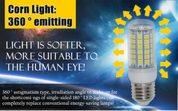50X GU10 LED Light Corn Bulb 5050 SMD 15W E27 E26 E14 GU10 G9 69 LEDs 1450LM With Cover Maize Lamp Warm White Office Home LED Lights By DHL