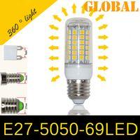 Wholesale E27 E26 E14 GU10 G9 LED Light Corn Bulb SMD W LEDs LM With Cover degree Maize Lamp Cool Warm White V V New Arrival