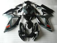 Precio de Suzuki gsxr750 fairing-Juego de carenado para 2006 2007 SUZUKI GSXR600 750 GSXR600 GSXR750 K6 06 07 GSXR 600 GSXR 750 Kit de carenados de brillo negro plateado MN66
