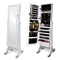 Wholesale Living Room Furniture Standing Mirror Jewelry Armoire MDF Jewelry Organizer Made In China Stock in USA