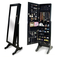 Wholesale Living Room Furniture Standing Mirror Jewelry Armoire MDF Jewelry Organizer Made In China USA warehouse