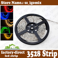 Wholesale smd led strip light single color non waterproof waterproof m reel leds warm cool pure white red blue green yellow m