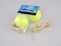 Wholesale Tennis Training Balls With Rope cost effective Outdoors Racquet Sport Supplies Rubber Training Tennis Ball