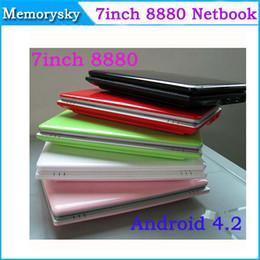 Wholesale 7inch Dual Core Slim Mini Laptop Android VIA Cortex A9 HDMI WIFI Camera G GB Bluetooth option MINI Notebook