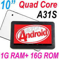 Wholesale 10 Inch Allwinner A31S Quad Core G RAM G ROM Tablet PC Android Bluetooth Dual Camera HDMI Multi Touch Netflix D Games quot