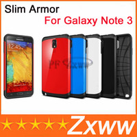 For Samsung Galaxy Note 3 Plastic  SGP Slim Armor Cases For Galaxy Note 3 Hard Cover Cell phone Case Mixed Order Free Shipping