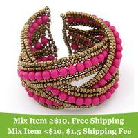 Wholesale Fashion Europe personality Pure manual beads Bangles Bracelet Jewelry cRYSTAL sHOP