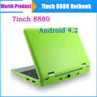 Wholesale 7 quot Google Android Dual core VM8880 VIA Netbook Notebook with Camera HDMI G GB Bluetooth MINI Laptop Upgarde