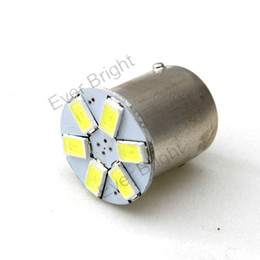 Wholesale 50pcs 1156 1157 6SMD 5730 6 LED Backup Lamp Reverse Tail Light Turn Signal Light Bulb