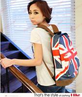 backpack uk sale - Hot Sale Unisex Canvas Backpack Teenager printing backpack UK flag zipper backpacks