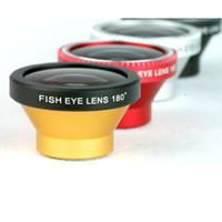 Cheap Free DHL Universal Magnetic 180Degree fisheye camera photo Lens for 5s S5 mobile smartphone phone