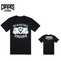 Wholesale-5 style fashion 2013 man hip hop Brand new style crooks castles and Diamond summer shirt mens t shirt