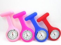 Silicone Nurse watch Brooch type Clip Nurse Jelly Fob pocket Quartz Watch Nurse Docotor Pocket Medical Watch