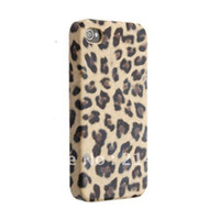 For Apple iPhone Metal Case Leopard Animal Prints Back Case Skin Cover for iphone 4