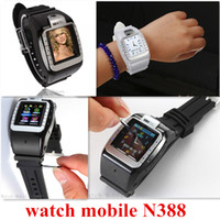 Wholesale Unlocked Wrist Watch Mobile Cell Phone DVR Hidden Camera MP3 GSM Quad Band N388