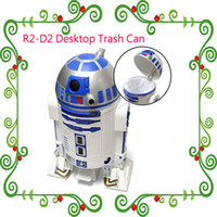 Wholesale Newest Design R2 D2 Droid Trash Can Star Wars R2 D2 Basket Comic Con SDCC cm Full Size Trash Can with Cheap Price R2 D2 Desktop Trash Can