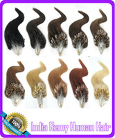 Wholesale 18 quot quot Micro Loop Ring Virgin Remy Human Hair Extensions s pack Colors Available
