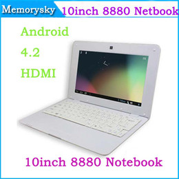 Wholesale quot Laptop VIA WM Dual Core GHz GB RAM GB ROM Android WiFi Webcam Netbook