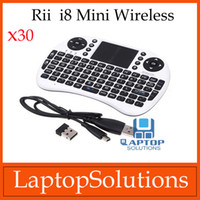Wholesale 30pcs Portable Rii G Mini i8 Wireless Keyboard Mouse Touchpad for PC Tablet Andriod TV Box IPTV
