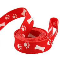 Wholesale Small Pet Cat Doggie Puppy Bone Paws Printed Safety Dog Leashes Collar