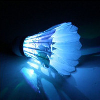 Wholesale Cute Special Dark Night LED Badminton Shuttlecock Birdies Lighting red green blue three kinds of light colors