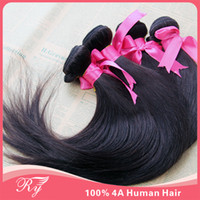 Wholesale RY good cheap weave peruvian virgin hair silky straight same mixed length in stock AAAA human hair weaves